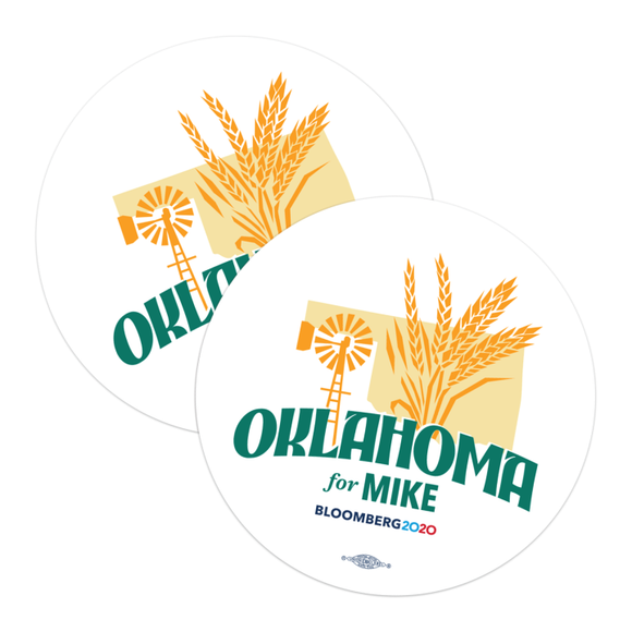 Oklahoma For Mike Stickers (Pack of Two!)
