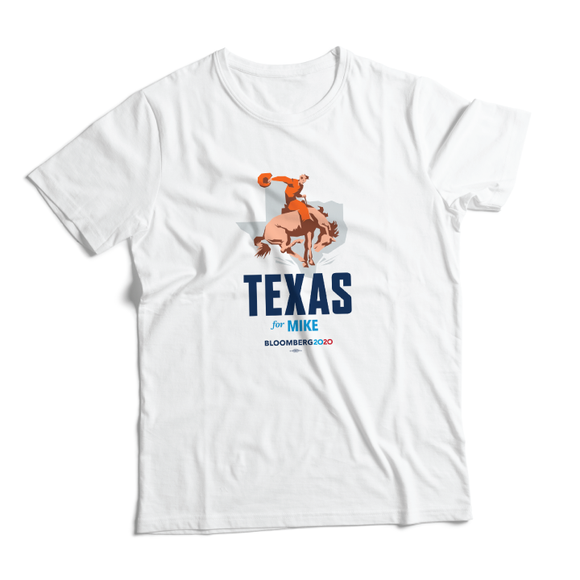Texas For Mike Tee (Unisex White)