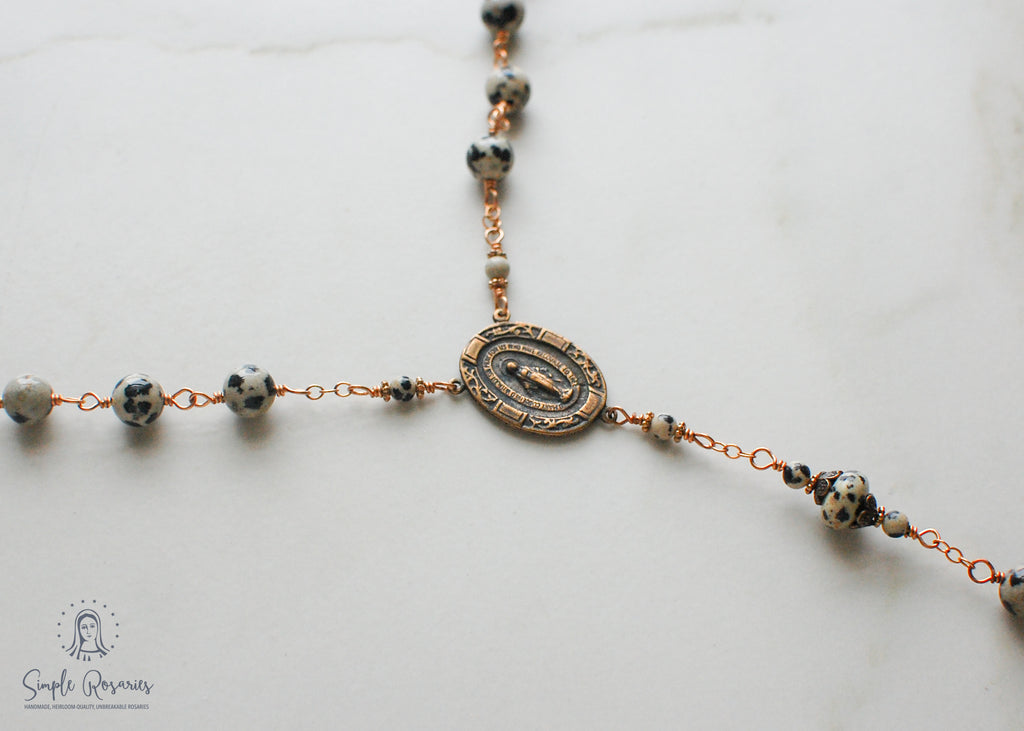 heirloom-quality, unbreakable sterling silver wire wrapped tiger eye rosary