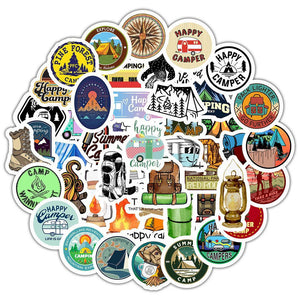 Go Camping Stickers 50Pcs