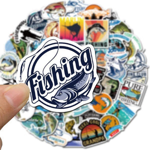 Fishing Stickers 50Pcs