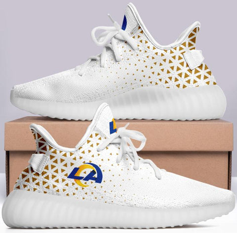 Los Angeles Rams White 350 V2 Style NFL Trainers