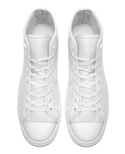 Custom Mock Up Template High Cut Style Trainers