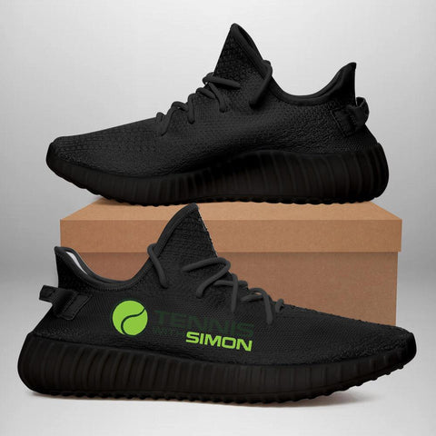 Tennis With Simon 350 V2 Style Commissioned Black Trainers