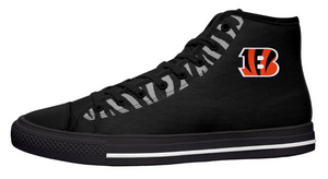 Cincinnati Bengals Black High Cut Style NFL  Trainers
