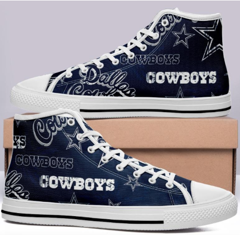 Dallas Cowboys Blue High Cut Style NFL Trainers