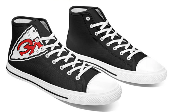 Kansas City Chiefs Black High Cut Style NFL Trainers