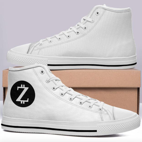 Z Code Sports Commissioned White High Cut Style Trainers w Logo