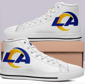 Los Angles Rams White High Cut Style NFL Trainers