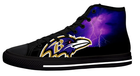 Baltimore Ravens Black High Cut Style NFL Trainers