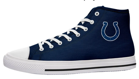 Indianapolis Colts Blue High Cut Style NFL Trainers