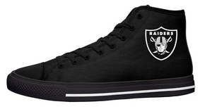 Las Vegas Raiders Black High Cut Style NFL Trainers
