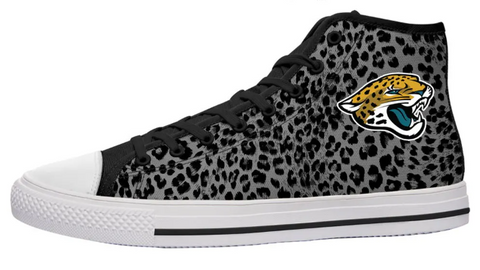 Jacksonville Jaguars Animal Print High Cut Style NFL Trainers