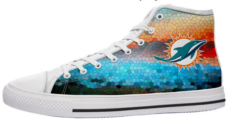 Miami Dolphins Multicoloured High Cut Style NFL Trainers