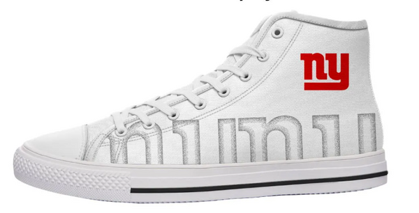 New York Giants White High Cut Style NFL Trainers