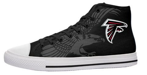Atlanta Falcons Black High Cut Style NFL Trainers