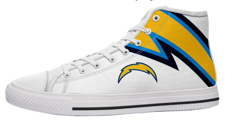 Los Angeles Chargers White High Cut Style NFL Trainers