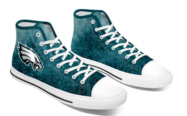 Philadephia Eagles Green High Cut Style NFL Trainers