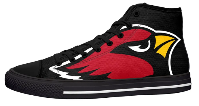 Arizona Cardinals Black High Cut Style NFL Trainers