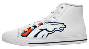 Denver Broncos White High Cut Style NFL Trainers