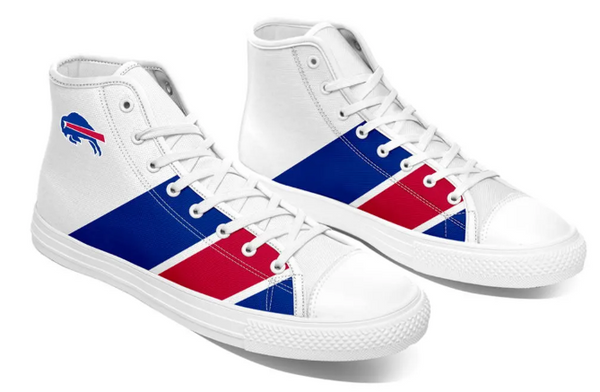 Buffalo Bills White High Cut Style NFL  Trainers