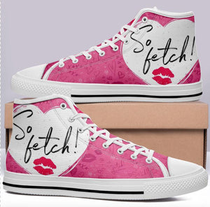 "Mean Girls ""So Fetch"" High Cut Style Commissioned Pink Trainers"