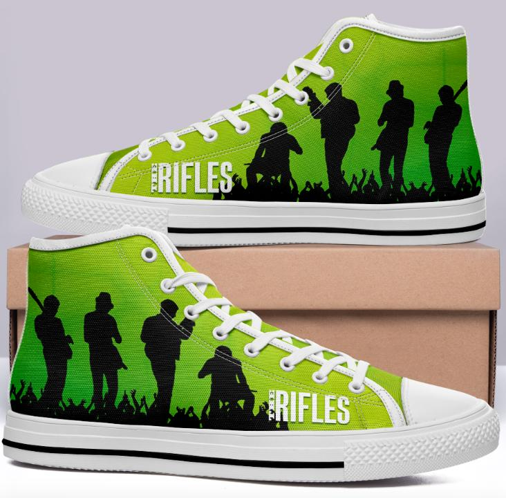 The Rifles Green High Cut Style Commissioned Trainers