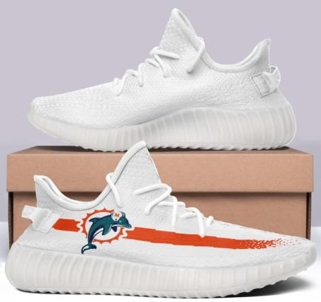 Miami Dolphins Vintage 350 V2 Style White NFL Trainers