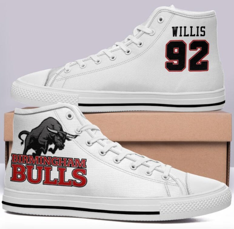 Birmingham Bulls #92 Willis High Cut Style Commissioned Trainers
