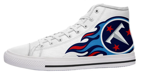 Tennessee Titans White High Cut Style NFL Trainers