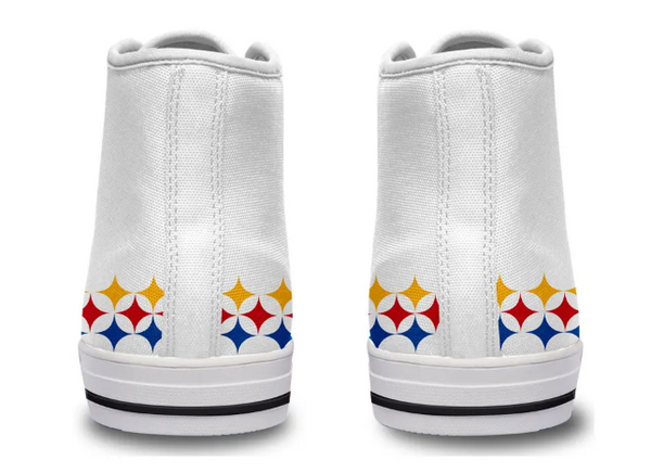Pittsburgh Steelers White High Cut Style NFL Trainers