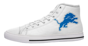 Detroit Lions White High Cut Style NFL Trainers
