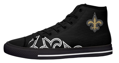 New Orleans Saints Black High Cut Style NFL Trainers