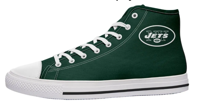 New Yorks Jets Green High Cut Style NFL Trainers