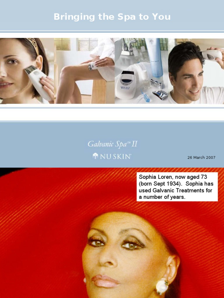 Galvanic Facial  Spa  w/Gel w/microcurrent technology - NuBodyRx