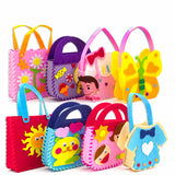 Kids DIY Fabric Cartoon Handbags