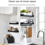 Wall-Mounted Aluminium Kitchen Shelves Organiser