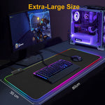 Large Backlit Gaming Mouse Pad