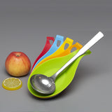 1pc Silicone Heat Resistant Kitchen Spoon