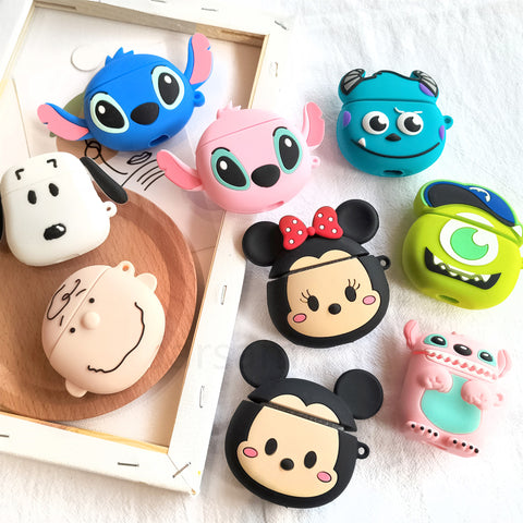 Silicone Cartoon Character Air Pods Case