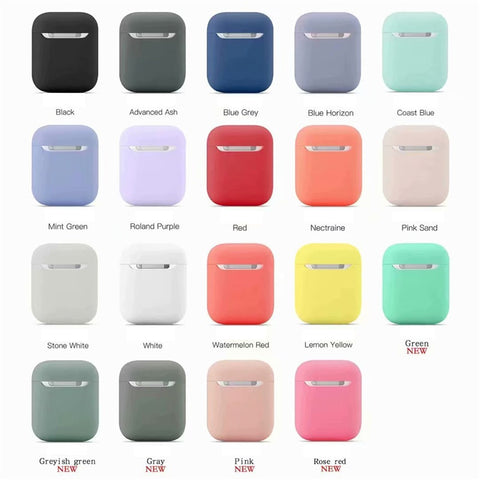 Solid Color Silicone Apple Airpods Protective Cover