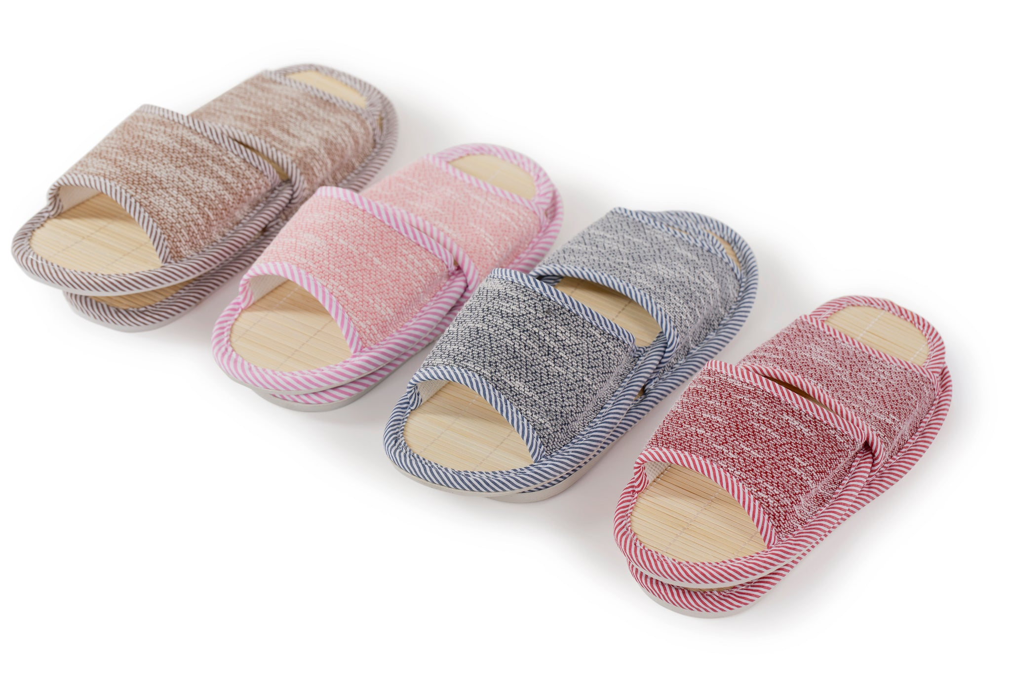 Bamboo/Cotton Slippers (RED/MEDIUM)
