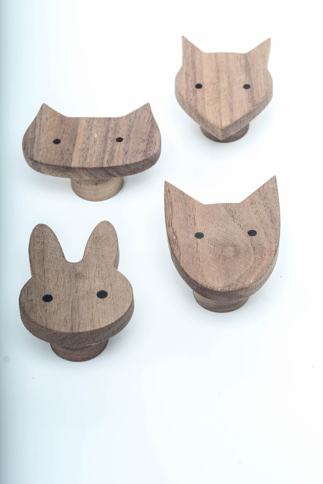 Cute Wood Hooks (set of 4)