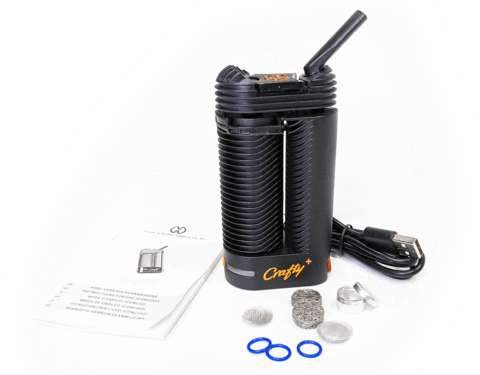 Crafty dry herb vape kit with accessories.