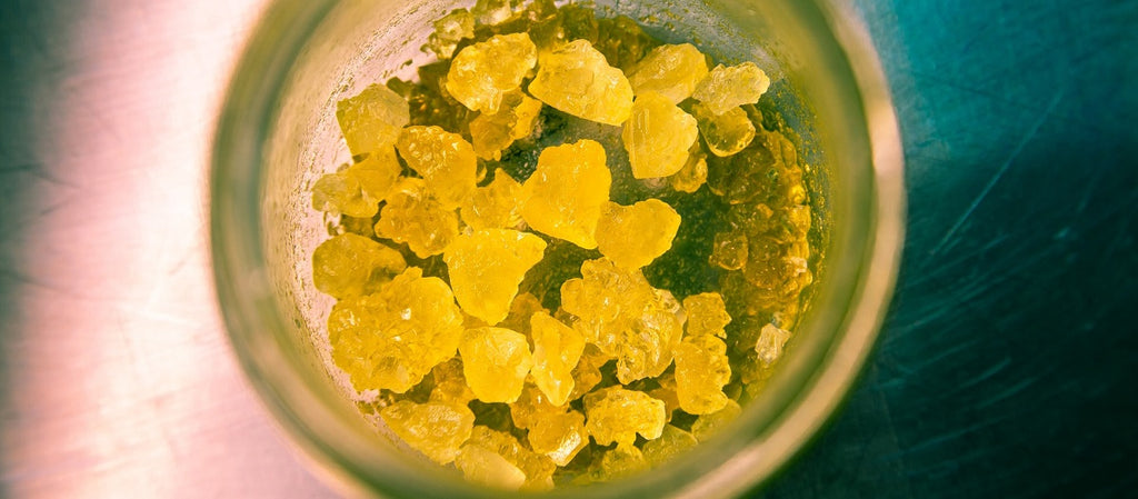 Freshly processed cannabis concentrate in a jar.