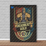 Official DC Death Stroke Deadbeat Gold Poster