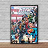 Official DC Justice League Comic Book Cover Poster