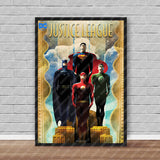 Official DC Retro Justice League Poster