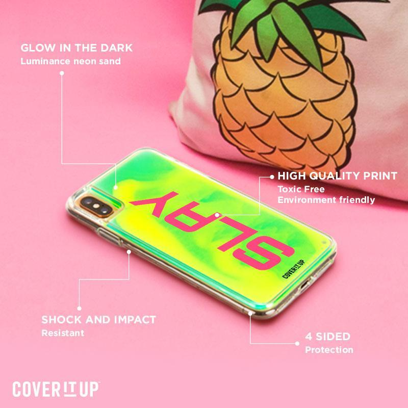 Apple Phone Case Area 51 Aurora iPhone X Lime Sorbet Neon Sand Glow Case