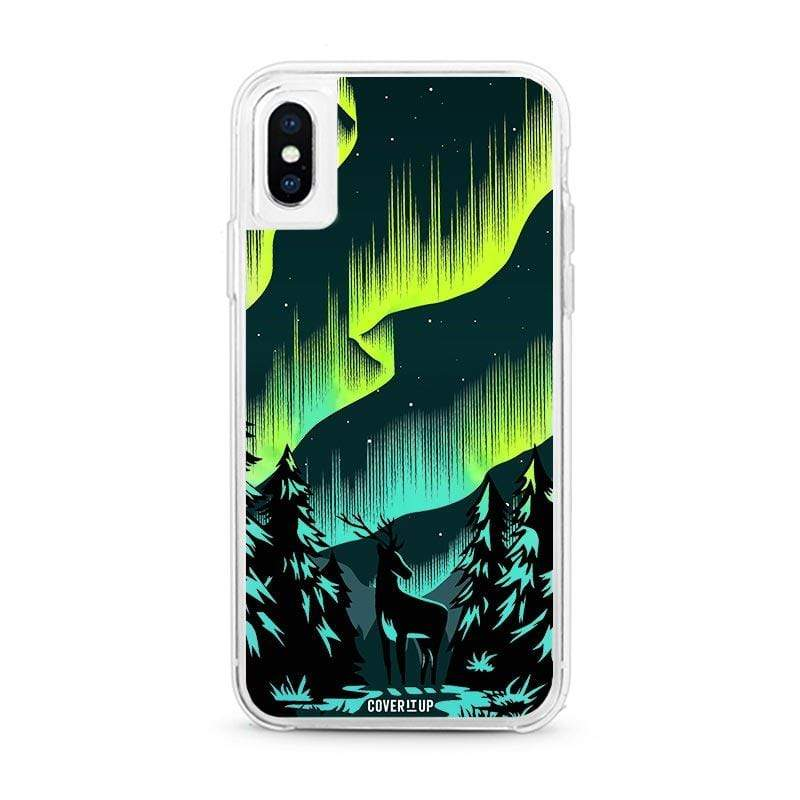 Apple Phone Case Area 51 Aurora iPhone XS Lime Sorbet Neon Sand Glow Case